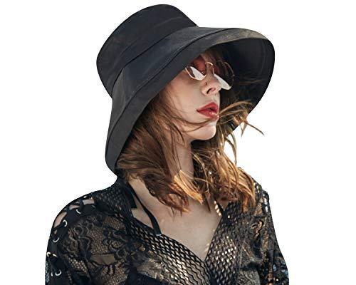 CACUSS Mujer Sombrero Senderismo Gorra Sol Plegable Sombrero de ala Ancha de Verano con protecc...