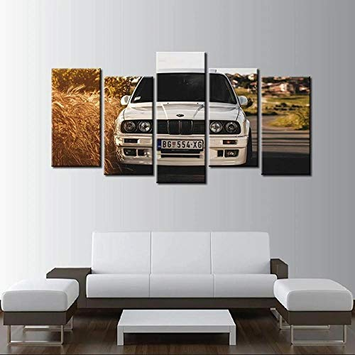 KOPASD Arts – 5 Piezas De Lienzo De Arte De Pared BM E30 Cuadros De Lienzo Moderno Giclée para Decoración del Hogar (Tamaño Grande 200 X 100 Cm)