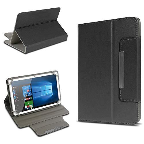 UC-Express Tablet Tasche für Trekstor Surftab Breeze 7.0 Quad Hülle Case Schutz Cover Schutzhülle Etui Kunstleder Universal Standfunktion, Farbe:Schwarz