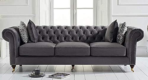JVmoebel Gemütliche Couch - Klassische Chesterfield Sofa Polster Lümmel Couchen
