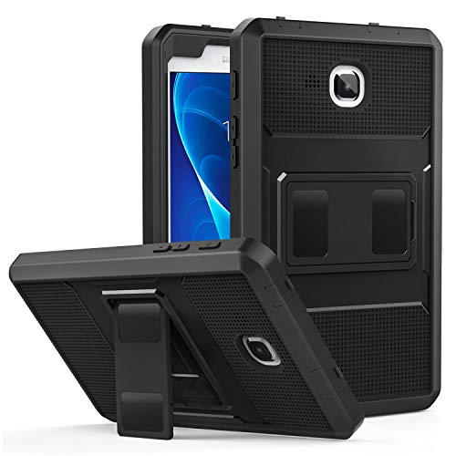 MoKo Galaxy Tab A 7.0 Case - [Heavy Duty] Full Body Rugged Cover with Built-in Screen Protector for Samsung Galaxy Tab A 7.0 Inch Tablet 2016 Release(SM-T280 / SM-T285), BLACK