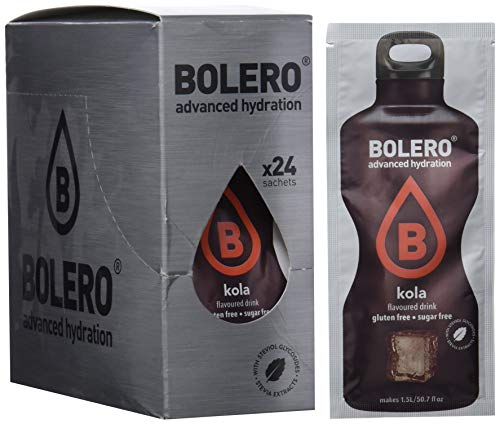 Bolero Bebida Instantánea sin Azúcar, Sabor Kola - Paquete