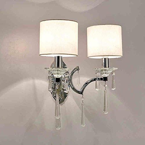 applique murale en verre double Hergon /Applique murale en cristal AC85-285V E27 LED-Argent//c/ôt/é droit bougie murale moderne avec applique murale en chrome pour cuisine salon