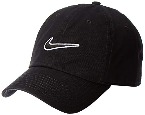 NIKE Heritage 86 Essential Swoosh Gorra Regulable, Unisex Adulto, Negro (Black), Talla...
