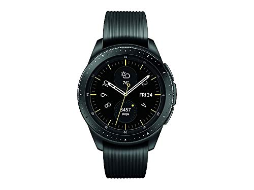 Samsung Galaxy Watch smartwatch (42mm, GPS, Bluetooth, Unlocked LTE) – Midnight Black (US Version with Warranty)