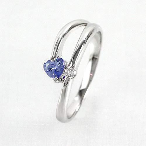 [リュイール ドゥージエム] タンザナイト イエローゴールド K18 ハート 一粒 10月 誕生石 ダイヤモンド リング レディース 9.5号