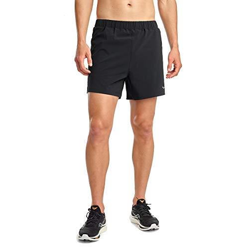 Saucony Men's Standard OUTPACE 5 Short, Black, Medium