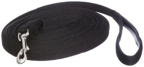 Trixie 19921 Schleppleine, Gurtband, 15 m/20 mm, schwarz
