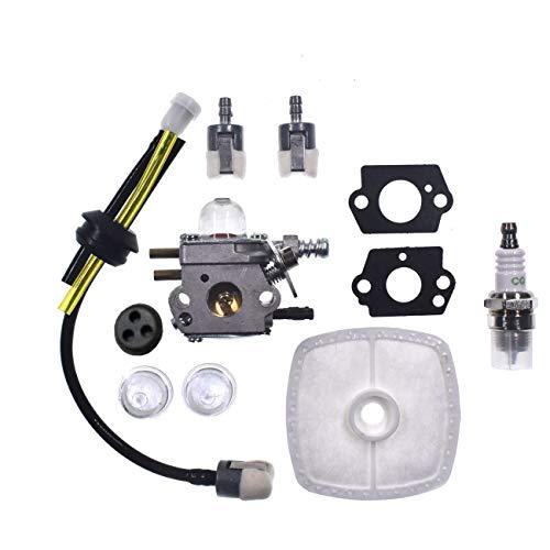 Hippotech Vergaser mit Tülle Kraftstoffleitungsdichtungen für Zama C1U-K52 Echo SRM2100 GT2000 GT2100 K29 K47