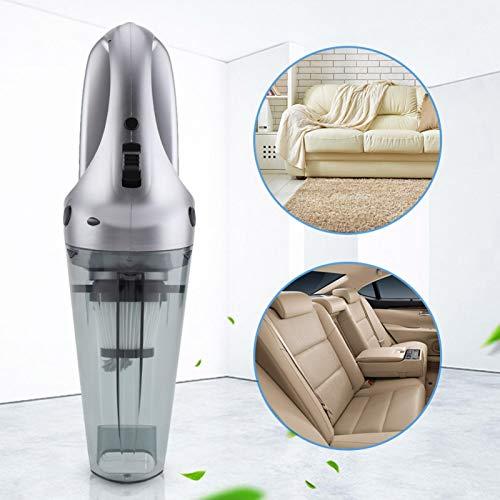 Emoshayoga Aspiradora de Coche aspiradora de 12 V antiestática Mini aspiradora de Coche Coche ergonómico para el hogar(Silver)