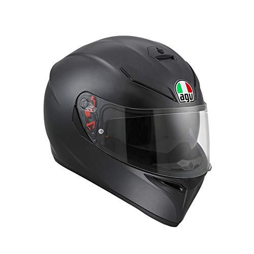 AGV Herren K3 Sv Agv E2205 Solid Mplk Motorrad Helm, schwarz, L EU