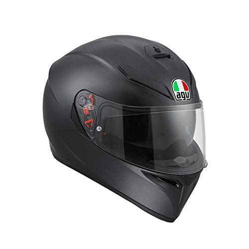 AGV 0301A4MY_002_MS K3 SV Solid Casco Moto Integral, Negro Mate, MS