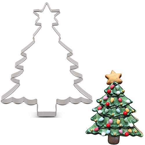 KENIAO Weihnachten Ausstecher Weihnachtsbaum mit Stern - 11 x 14,2 cm - Edelstahl