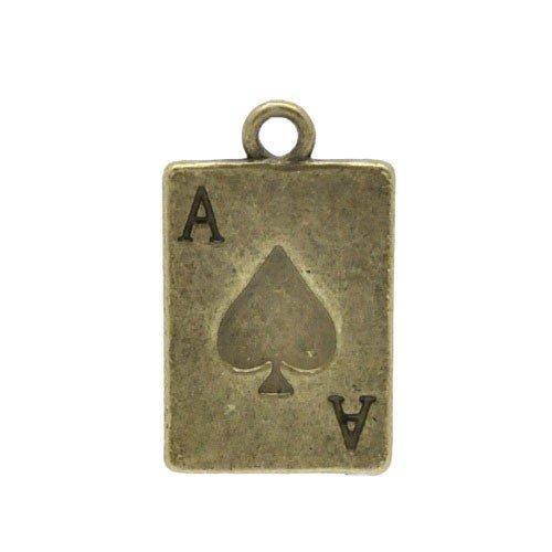 Tibetan Playing Cards Charm Pendants Steampunk Bronze 21mm 10 Packs of 10