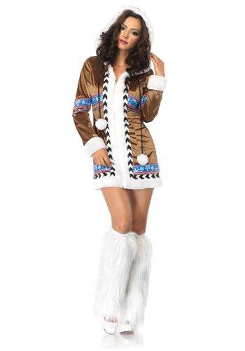Leg Avenue Women's Igloo Cutie Eskimo Costume, Brown, Large