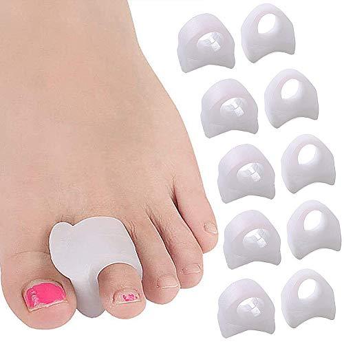 Separador del dedo del pie LLMZ 5 pares Protector De Juanete del Dedo corrector de los dedos de los pies para bailarines yogis y atletas tratamiento para juanetes