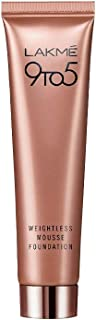 Lakme 9 to 5 Weightless Mousse Foundation, Rose Ivory, 25g