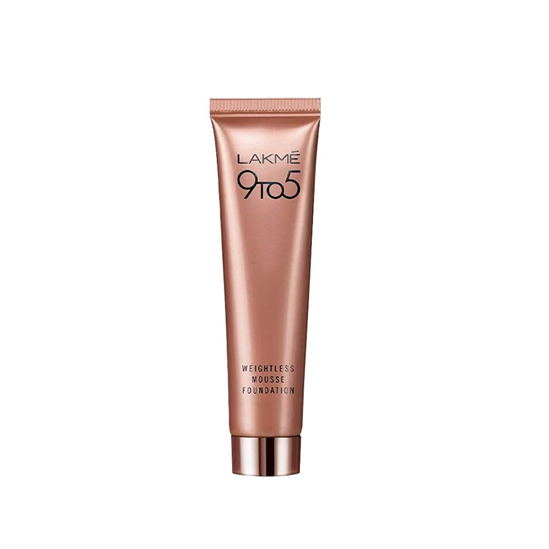 同僚闘争の配列Lakme 9 to 5 Weightless Mousse Foundation, Rose Ivory, 29 g
