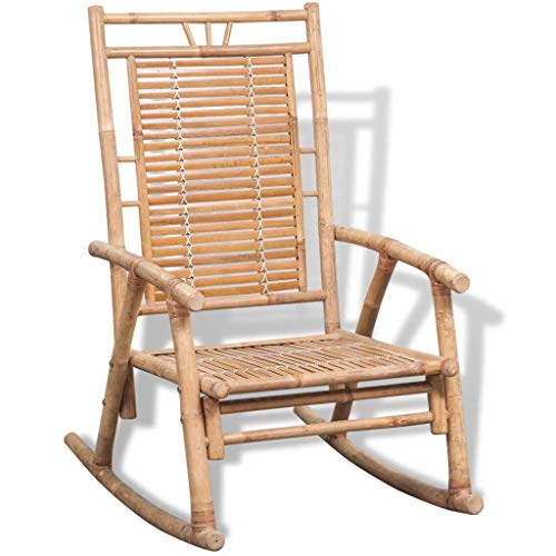 vidaXL Rocking Chair Bamboo Living Room Indoor Outdoor Furniture Relaxing Seat