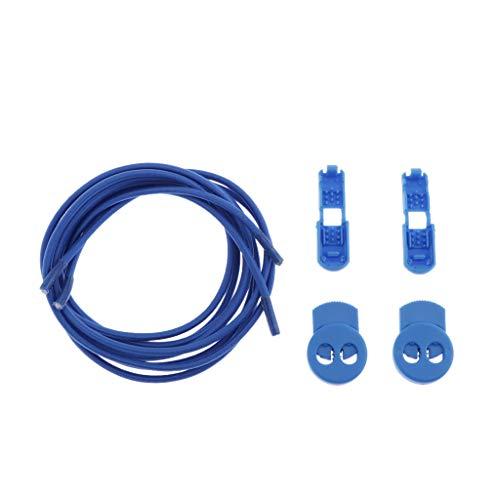 Baoblaze Elastische Nylon Schnürsenkel für Kinder und Erwachsene, Schnurlose-Schnürsenkel mit Verschluss für Outdoor-Aktivitäten, Laufen, Fußball - Königsblau
