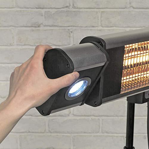 SEALEY High Efficiency Carbon Infrarot-Terrassenstrahler 1800w/230v Mit LED-Leuchten und Teleskop-Bodenständer - 2