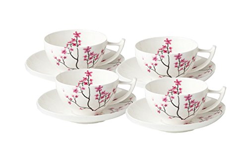 Cherry Blossom Teetassen 4er Set - Tealogic