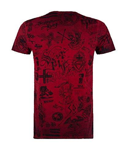 Scorpion Bay T-Shirt für Kinder, doppelseitig, Rot L