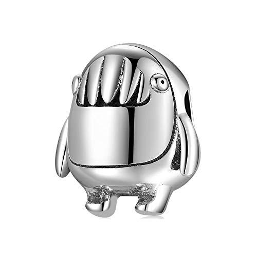 LISHOU Happy Messenger Little Monster Little Devil Animals Cuentas De Plata 925 Fit Pandora Charms Pulsera Collar DIY Joyería De Mujer D16