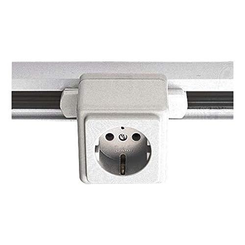 LTS Licht&Leuchten Steckdosen-Adapter EU 60 sw-99-095-2 99-095-2 Elektrisches Zubehör für Leuchten 4043544097668