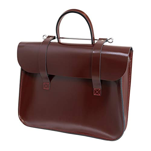 Oxford Traditional Leather MC1-W, Bolso de Piel, Granate (Wine)