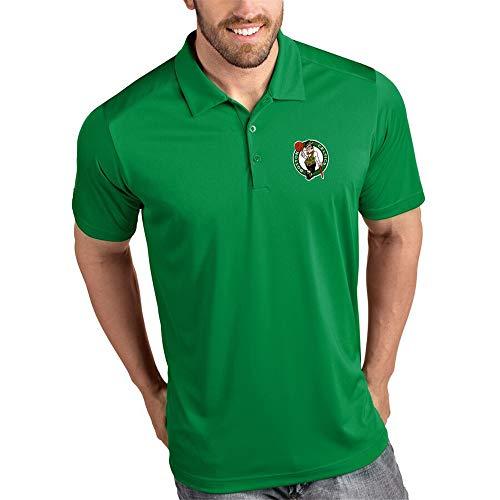 CYHW Polo da Uomo Business Risvolto T-Shirt Boston Celtics Casuale Outdoor Mezza Manica Green-XL