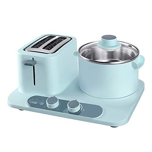AMY Toaster, 2 In1-Eierkocher Und 2-Scheiben-Toaster Multifunktions-Küchenhelfer Smart Mini Toaster Omelett-Bratpfanne Elektrische Bratpfanne Nudel Kochtopf Toastbrot,Blau