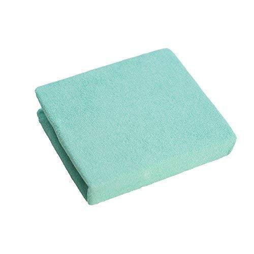 La sábana Ajustable para bebés se Adapta a la Cama de 160 x 70 - Verde Azulado (Azul Marino)
