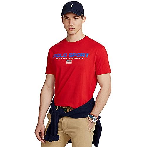 Polo Ralph Lauren T-Shirt da Uomo Polo Sport 480620 (M, RL Red)