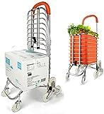 OUWTE Carrito de la Compra Plegable Bolsa con Ruedas Carrito para Subir escaleras de Servicio público de comestibles portátil con 8 Ruedas y Bolsa extraíble de Lona Impermeable extraíble