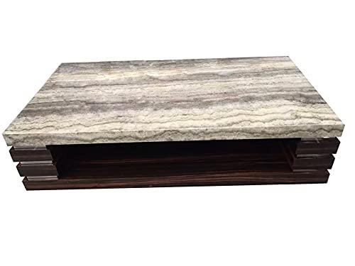 TANGIST línea Venta de Muebles de Sala de Estar Moderno TV Stop Mesa de TV de Madera con Tapa de mármol Gris (Color : Coffee Table)