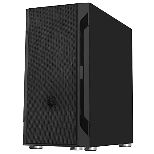 Silverstone FAH1MB Solid Side Panel, Black, Mid-Tower Micro-ATX Case with Mini-DTX and Mini-ITX Support (FARA H1M)