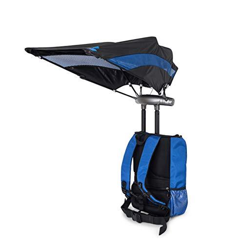 CORB Sac à Dos de randonnée léger, Hommes Femmes Multi-Fonctionnel Mains Libres Sun Umbrella Daypack pour Le Cyclisme Voyage Escalade Mountaineer Sport en Plein air,Blue