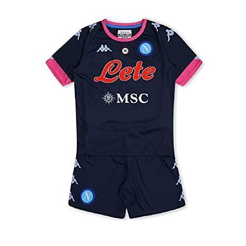 SSC NAPOLI, Kit Gara Baby Third 2020/21 niño, azul oscuro y rosa, 24 M