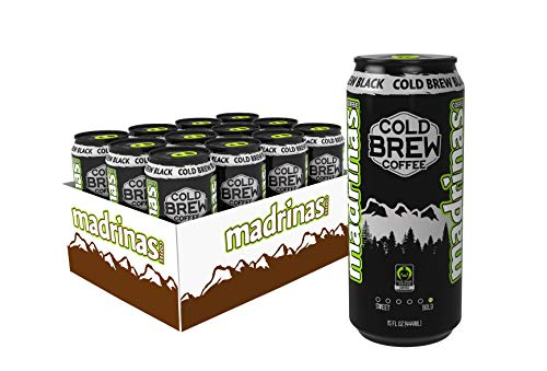 Madrinas Coffee Fair Trade Organic Cold Brew Black, 15 Fl Oz (Pack Of 12)