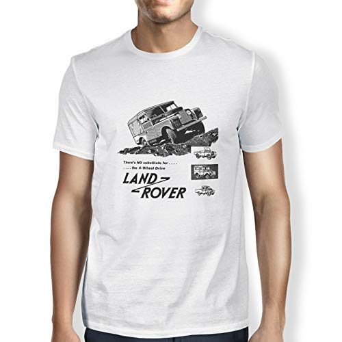 Huzkc LR3 Military Defender Land Rover T-Shirt imprimé pour Hommes en Coton d'été Respirant à Manches Courtes Haut de Mode pour Les écoles Plein air