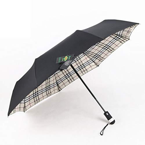 Paraguas De Viaje Mini Paraguas Compacto PortáTil Paraguas Plegable ProteccióN De UV Paraguas Parasol Paraguas - Enrejado De IluminacióN Paraguas Doble 23 * 8k
