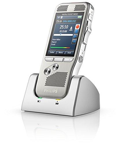 Philips DPM 8000 Diktiergerät PC-Anschluss, Speichertyp: interner Speicher, MP3-Rekorder, Spracherkennung (DSS)