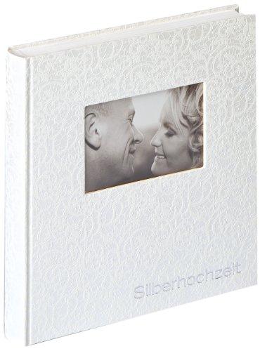 Walther design US-107 Music, Album zur Silberhochzeit, 28x30,5 cm, weiß