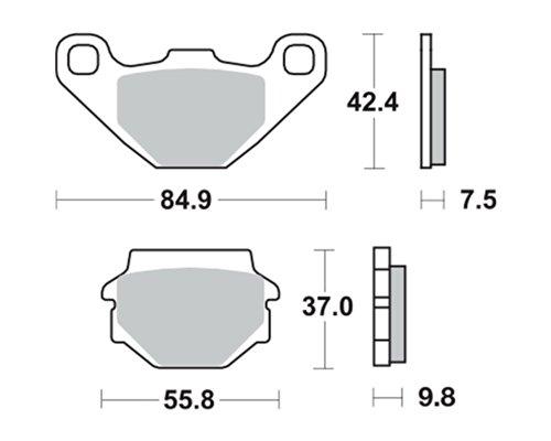 Bremsbeläge TRW MCB523SI für TGB 125 Corona Sport, Comfort Pegasus 02- (vorne)