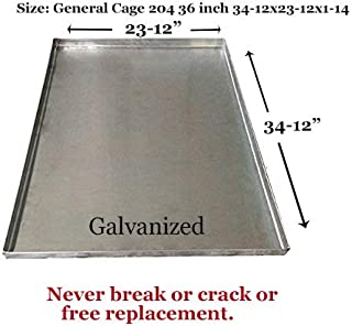 Replacement Tray For Dog Crate – Chew-Proof and Crack-Proof Metal Pan for Dog Crates– Lifetime Guarantee -36 Inch