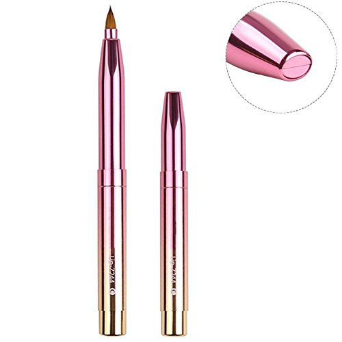 Zoreya Fashion Gradient Color Retractable Lip Brush Travel Lipstick Gloss Makeup Brush Tool As...