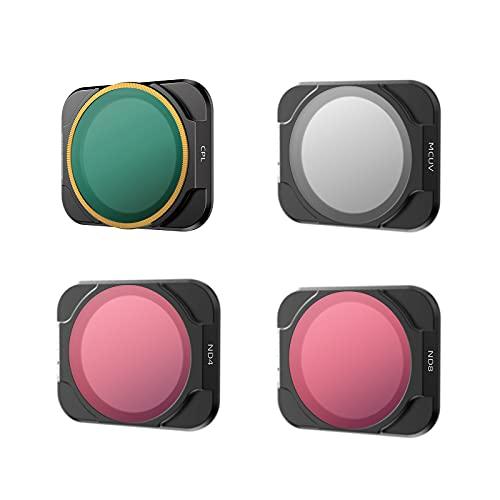 Hensych Filtro de lente de cámara para D-J-I AIR 2S Drone,MCUV CPL ND NDPL Filtro de alta transmitancia Marco de modelado integrado (MCUV+CPL+ND4+ND8)