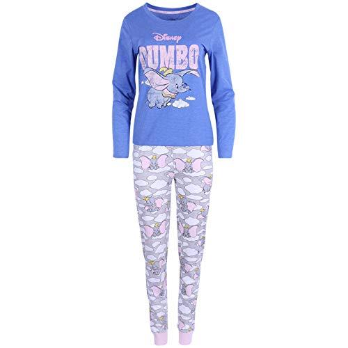 Pijama de Mujer Azul y Gris Dumbo Disney...