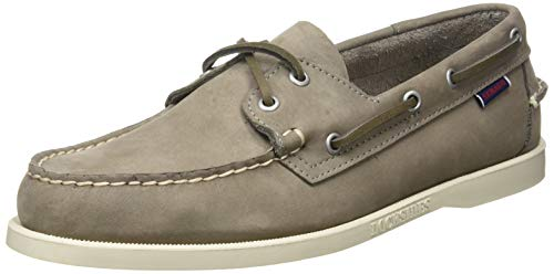 Sebago Docksides Portland Nubuk, Men's 7000GA0 Boat Shoes (Mid Grey 985) 7 UK Uomo, 41 EU